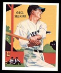1934 Diamond Stars Reprints #88  George Selkirk  Front Thumbnail