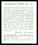1934 Diamond Stars Reprints #59  Jim Bottomley  Back Thumbnail