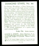 1934 Diamond Stars Reprints #89  Joe Stripp  Back Thumbnail