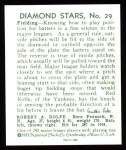 1934 Diamond Stars Reprints #29  Red Rolfe  Back Thumbnail