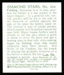 1934 Diamond Stars Reprints #104  Red Rolfe  Back Thumbnail
