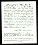 1934 Diamond Stars Reprints #23  Bill Hallahan  Back Thumbnail