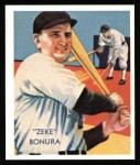 1934 Diamond Stars Reprints #65  Zeke Bonura  Front Thumbnail