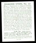 1934 Diamond Stars Reprints #42  Jimmy Dykes  Back Thumbnail