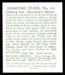 1934 Diamond Stars Reprints #101  Dick Bartell  Back Thumbnail
