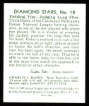 1934 Diamond Stars Reprints #18  Chick Hafey  Back Thumbnail