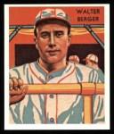 1934 Diamond Stars Reprints #108  Walter Berger  Front Thumbnail