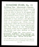 1934 Diamond Stars Reprints #15  Dick Bartell  Back Thumbnail