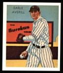 1934 Diamond Stars Reprints #35  Earle Averill  Front Thumbnail