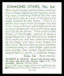 1934 Diamond Stars Reprints #69  Earl Grace  Back Thumbnail