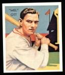 1934 Diamond Stars Reprints #50  Mel Ott  Front Thumbnail