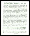 1934 Diamond Stars Reprints #99  Harols Pie Traynor  Back Thumbnail