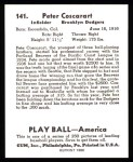 1939 Play Ball Reprints #141  Pete Coscarart  Back Thumbnail
