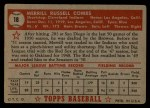 1952 Topps #18 RED Merrill Combs  Back Thumbnail