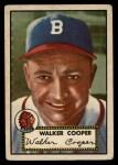 1952 Topps #294  Walker Cooper  Front Thumbnail