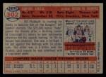 1957 Topps #302  Sandy Koufax  Back Thumbnail