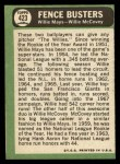 1967 Topps #423   -  Willie Mays / Willie McCovey Fence Busters Back Thumbnail