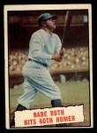 1961 Topps #401   -  Babe Ruth Babe Ruth Hits 60th Homer Front Thumbnail