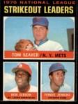 1971 O-Pee-Chee #72   -  Bob Gibson / Fergie Jenkins / Tom Seaver NL Strikeout Leaders Front Thumbnail