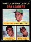 1971 O-Pee-Chee #67   -  Jim Palmer / Diego Segui / Clyde Wright AL ERA Leaders  Front Thumbnail