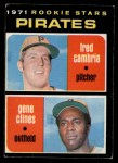 1971 O-Pee-Chee #27   -  Fred Cambria / Gene Clines  Pirates Rookies   Front Thumbnail