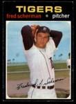 1971 O-Pee-Chee #316  Fred Scherman  Front Thumbnail