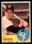 1963 Topps #542  Lou Klimchock  Front Thumbnail