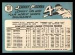 1965 Topps #387  Johnny Podres  Back Thumbnail