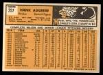 1963 Topps #257  Hank Aguirre  Back Thumbnail