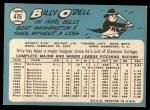 1965 Topps #476  Billy O'Dell  Back Thumbnail
