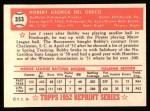 1952 Topps Reprints #353  Bobby Del Greco  Back Thumbnail