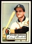 1952 Topps Reprints #96  Willard Marshall  Front Thumbnail