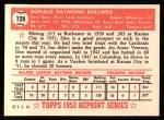 1952 Topps Reprints #128  Don Bollweg  Back Thumbnail