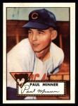 1952 Topps Reprints #127  Paul Minner  Front Thumbnail
