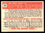 1952 Topps Reprints #359  Dee Fondy  Back Thumbnail