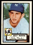 1952 Topps Reprints #175  Billy Martin  Front Thumbnail