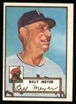 1952 Topps Reprints #387  Billy Meyer  Front Thumbnail