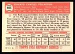 1952 Topps Reprints #405  Eddie Pellagrini  Back Thumbnail