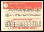 1952 Topps Reprints #358  John Kucab  Back Thumbnail