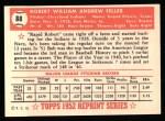 1952 Topps Reprints #88  Bob Feller  Back Thumbnail