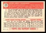 1952 #378  Leroy Fusselman  Back Thumbnail