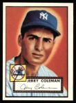 1952 Topps Reprints #237  Jerry Coleman  Front Thumbnail