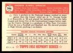 1952 Topps Reprints #346  George Spencer  Back Thumbnail