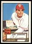 1952 Topps Reprints #203  Curt Simmons  Front Thumbnail