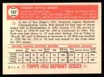 1952 Topps Reprints #157  Bobby Usher  Back Thumbnail