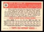 1952 Topps Reprints #306  Lou Sleater  Back Thumbnail