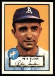 1952 Topps Reprints #256  Pete Suder  Front Thumbnail