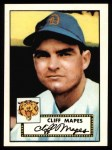 1952 Topps Reprints #103  Cliff Mapes  Front Thumbnail