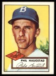 1952 Topps Reprints #198  Phil Haugstad  Front Thumbnail