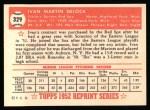 1952 Topps Reprints #329  Ike Delock  Back Thumbnail